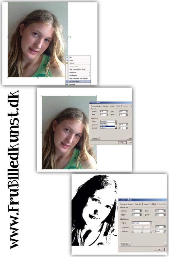 Moderne selvportrætter - www.FruBilledkunst.dk