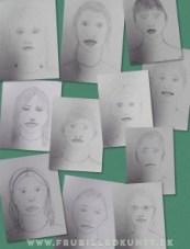 www.FruBilledkunst.dk - portraits 3rd grade