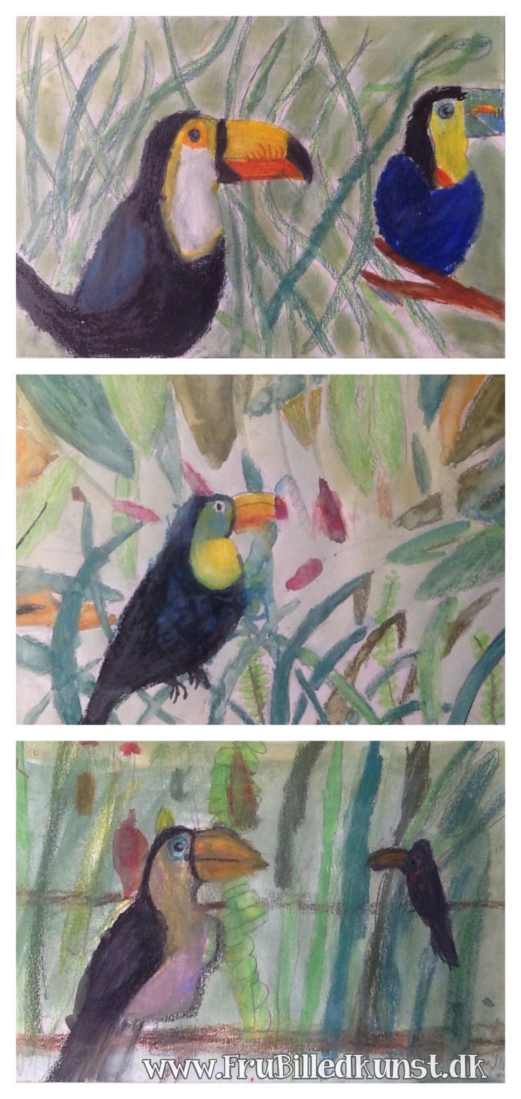 www.FruBilledkunst.dk - toucans