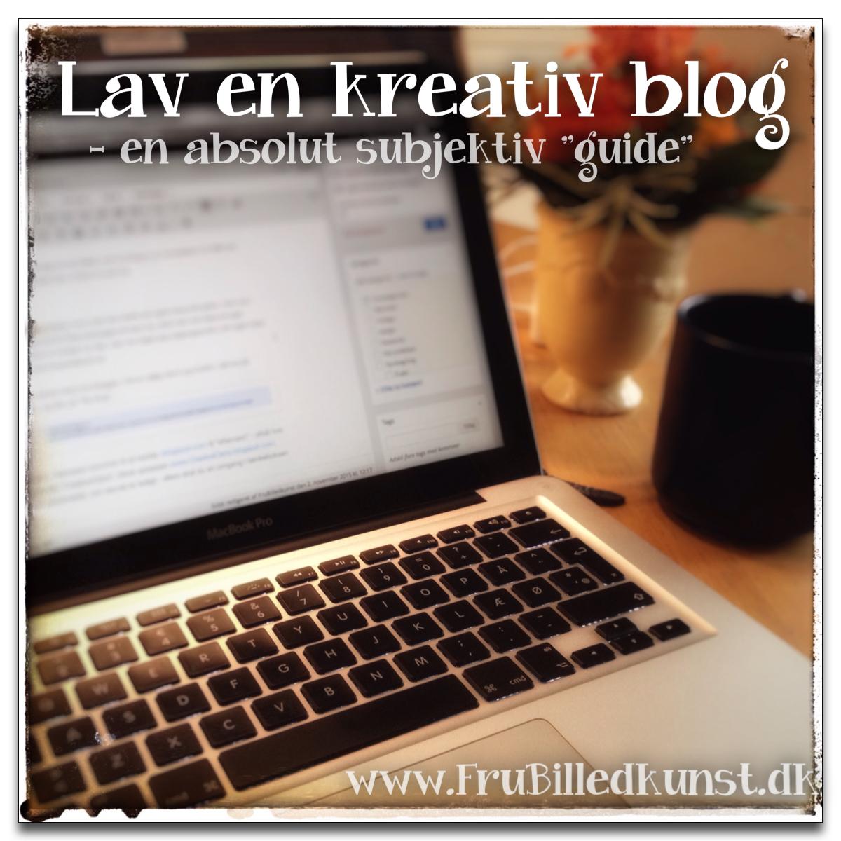 www.FruBilledkunst.dk - lav en kreativ blog