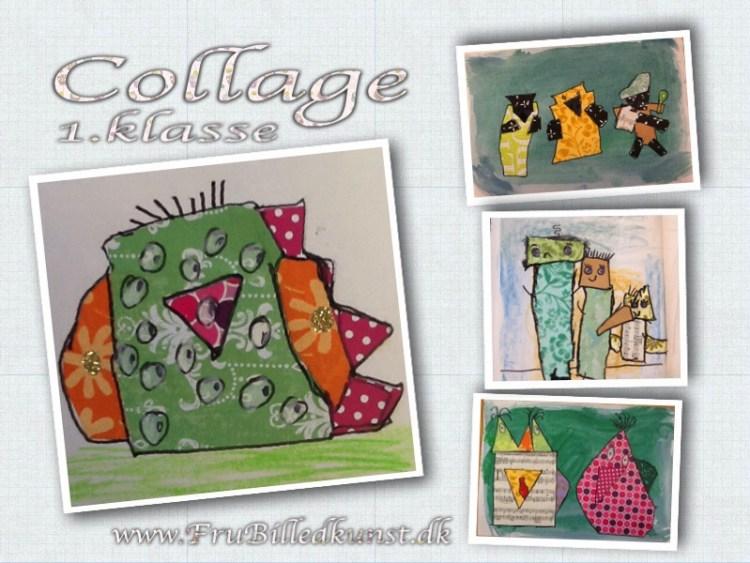 www.FruBilledkunst.dk - collage i 1.klasse