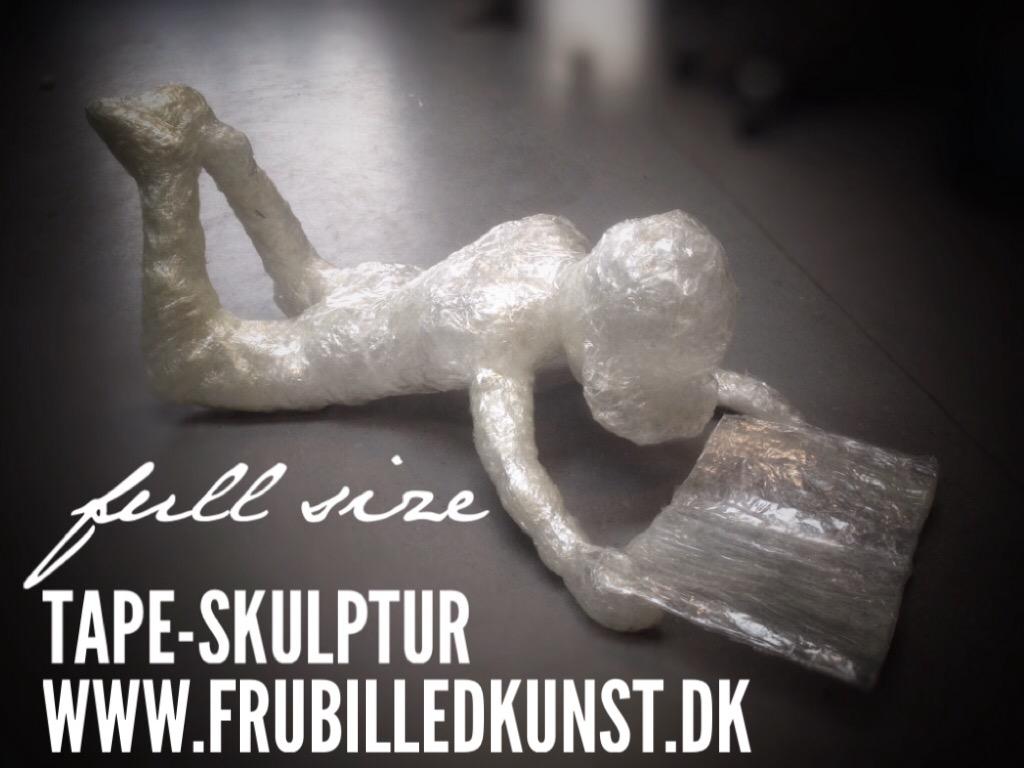 Tape-skulptur - www.FruBilledkunst.dk