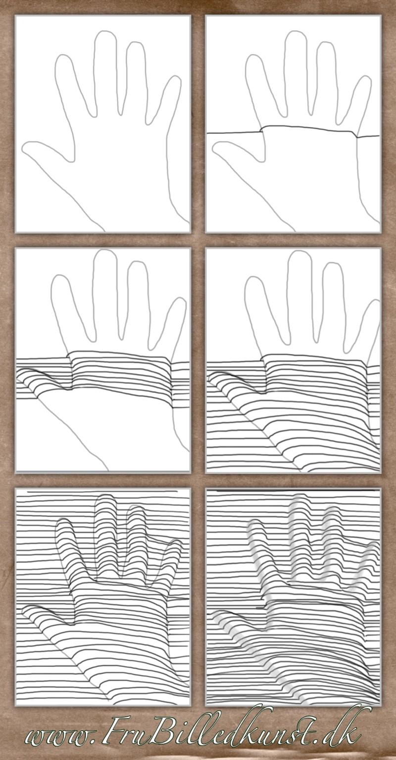 Op Art - 5.del: hånd under streger
