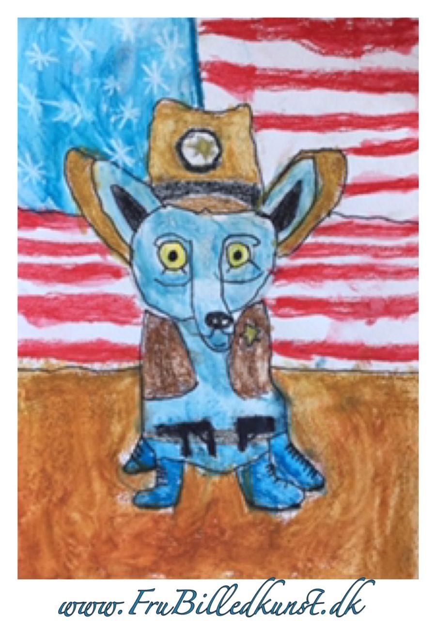 Sheriff Blue Dog - www.FruBilledkunst.dk