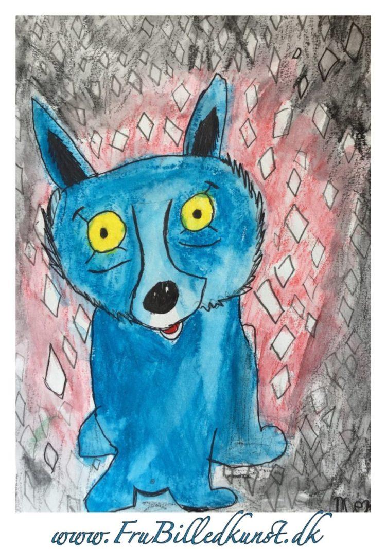 Blue Dog - www.FruBilledkunst.dk