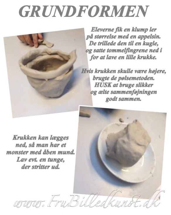 lermonster - grundform - www.FruBilledkunst.dk