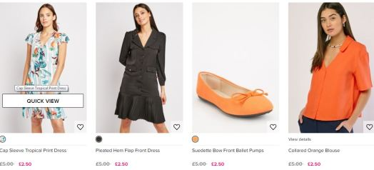 Cheap clothes! The £2.50 sale from Everything5Pounds