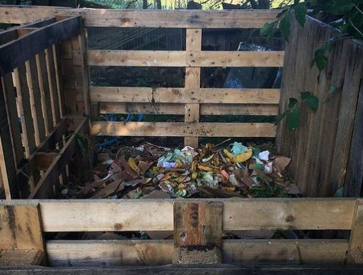 making compost from kitchen scraps and other materials