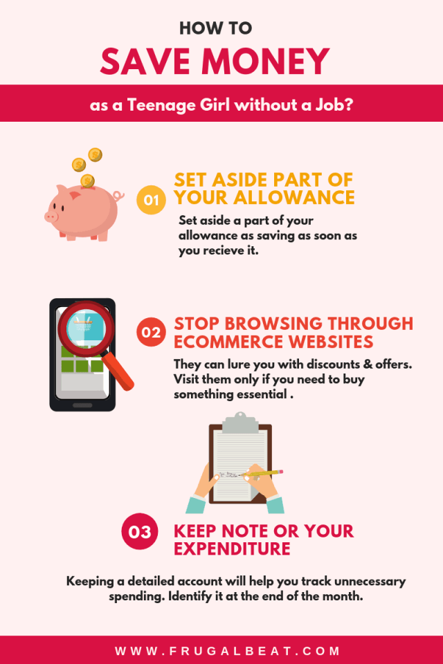 How to Save Money as a Teenage Girl Without a Job ?