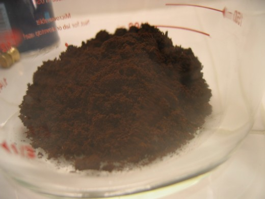 Finely ground turkish coffee
