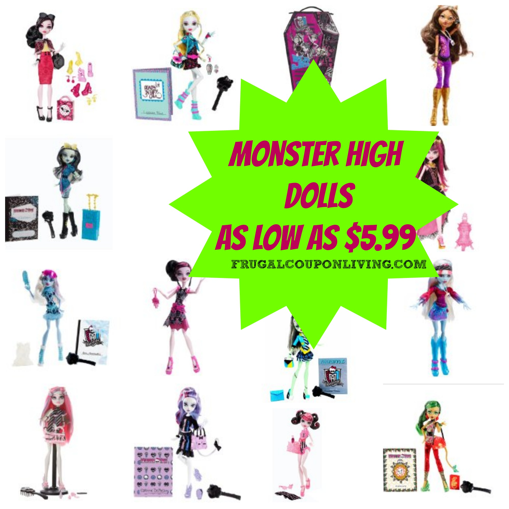 Monster High Dolls Starting At 599