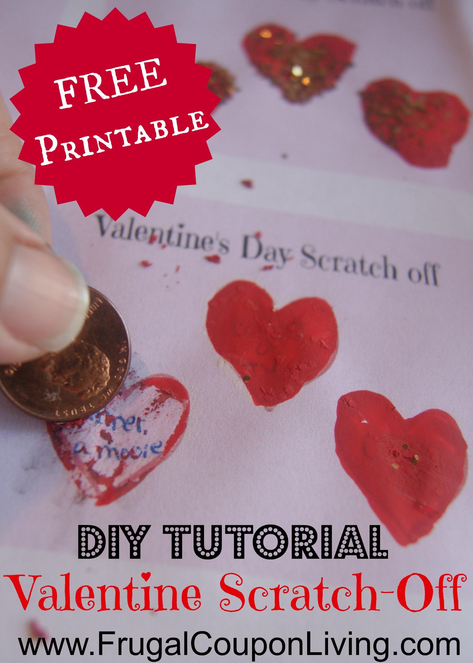 DIY Valentine Series Valentines Day Scratch Off Tickets
