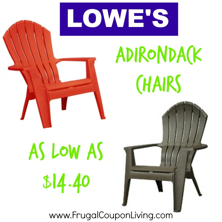 adirondack chairs at lowes knoll rocking chair as low 14 40 lowe s