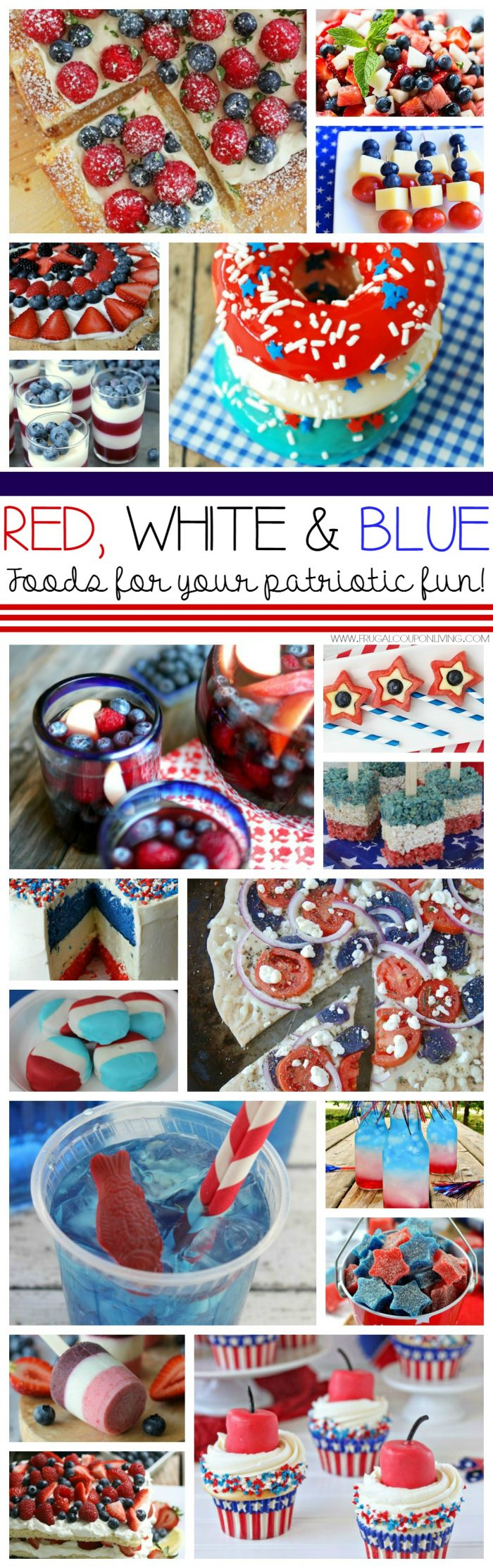 Red White  Blue Foods  Ideas for Your Gathering