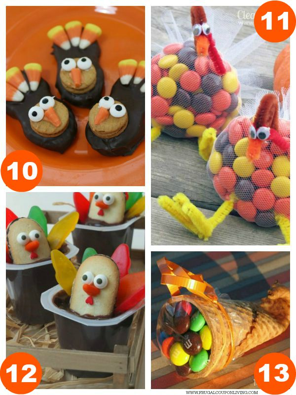 Kid Food Craft Thanksgiving Collage 3
