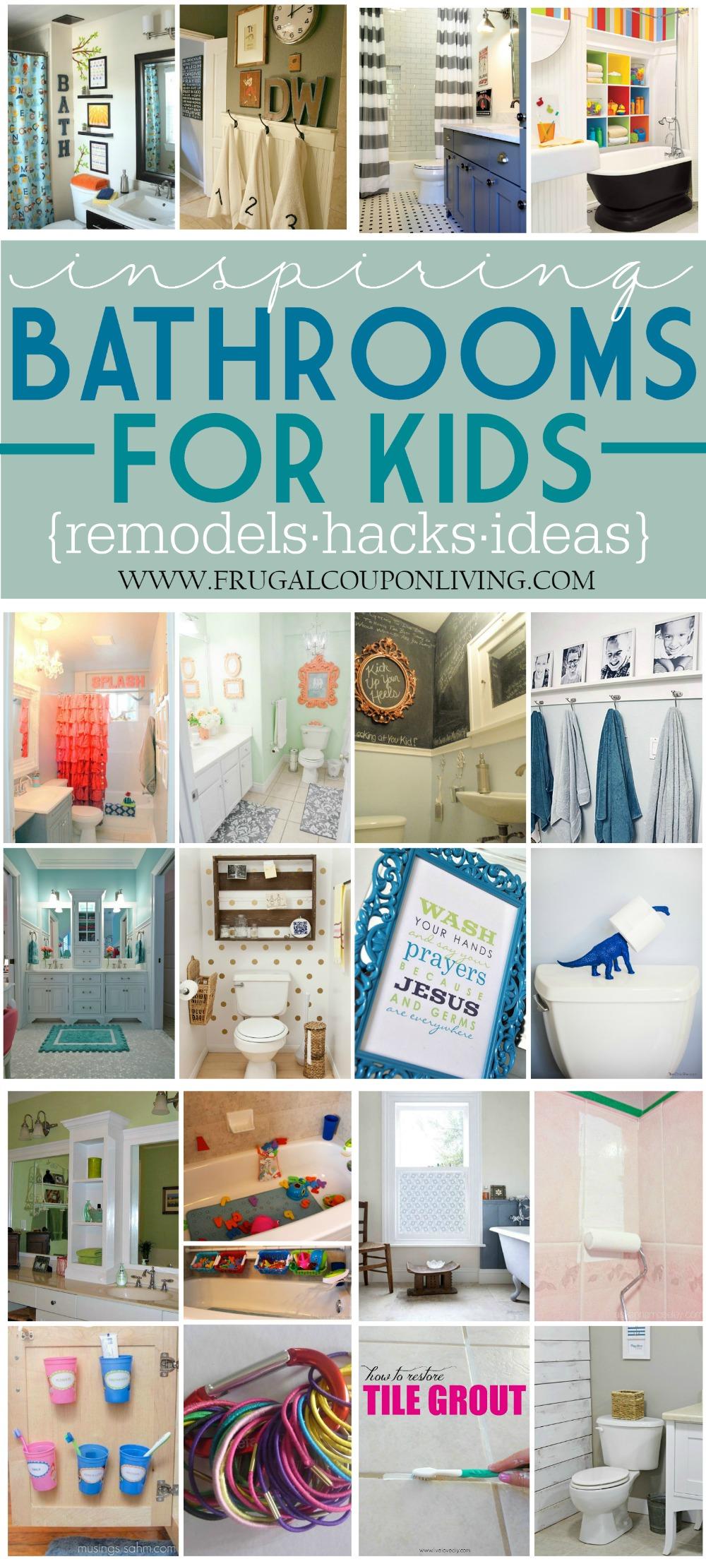 Inspiring Kids Bathrooms Remodels and Hacks