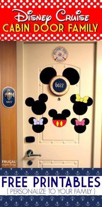 FREE Disney Cruise Door Printables