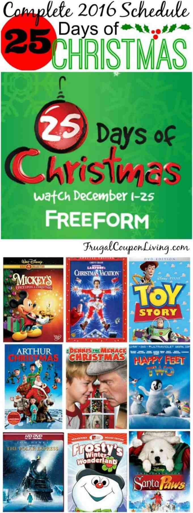 freeform 25 days of christmas 2017 christmaswalls co