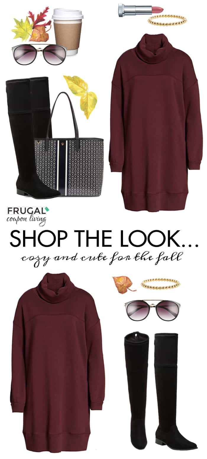 frugal fashion friday sweater dress
