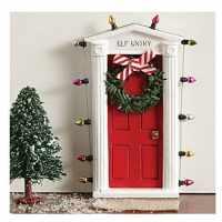Elf on the Shelf Ideas | Elf is Back through a Secret Elf Door