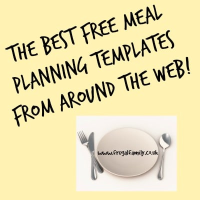 The Best Free meal planning templates from around the internet