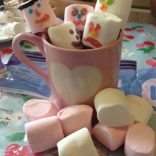 Then there's decorating marshmallows on sticks.
