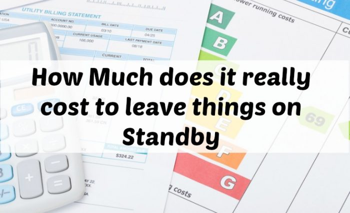 How Much Appliances Really Cost When You Leave Them On Standby The Diary Of A Frugal Family