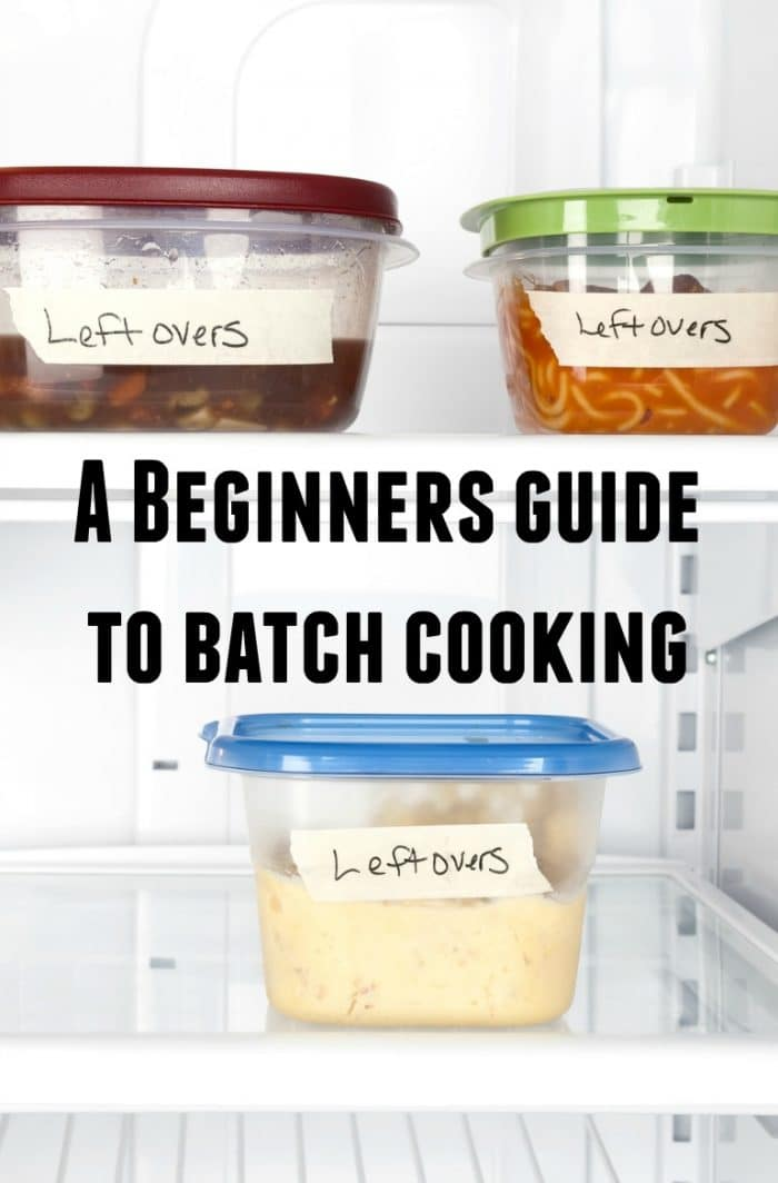 A beginners guide to batch cooking - 10 top tips to help you get started.....