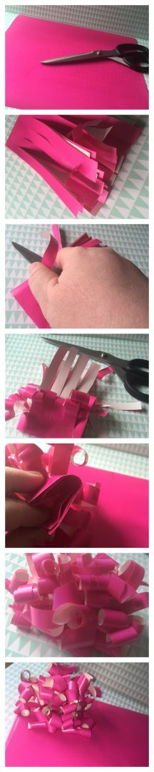 How to make a beautiful bow out of leftover wrapping paper ...