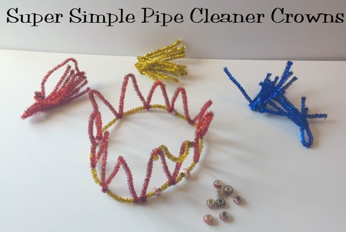 Pipe cleaner crowns….