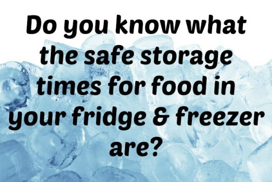 Do you know what the safe storage times for food in your fridge & freezer are
