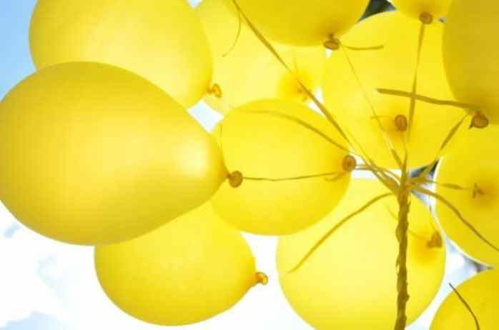 Yellow balloon