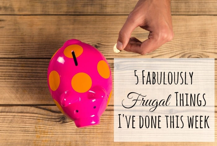 Five Frugal Things we did this week {19 October 2018}….