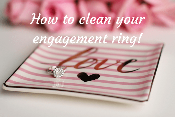 how to clean my engagement ring at home
