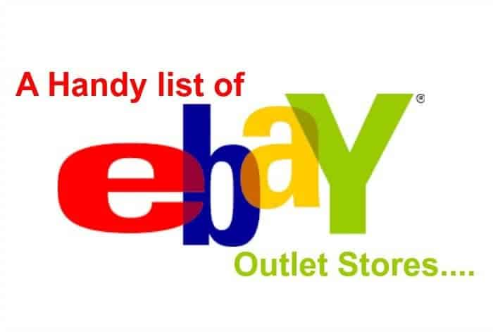 A handy list of some of the most popular ebay outlet shops for Bodendirect outlet
