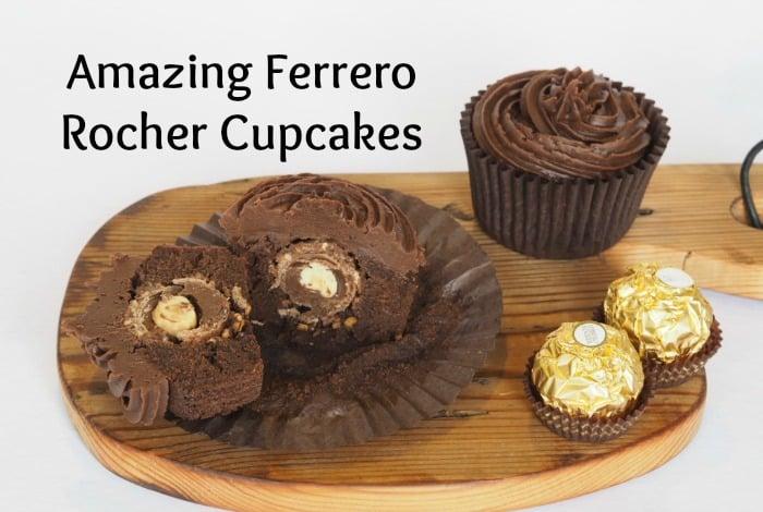Amazing Ferrero Rocher cupcakes