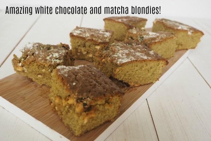 White Chocolate Matcha Blondies….