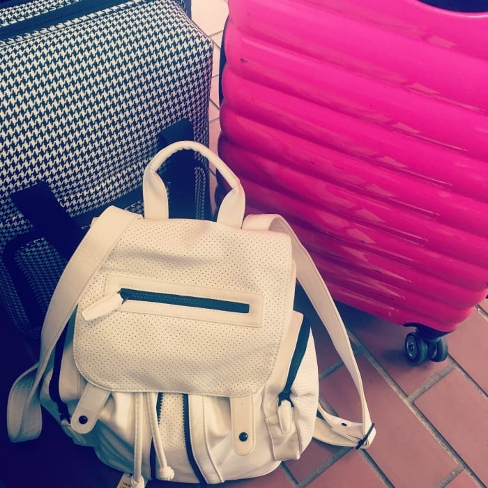 Suitcase and bags