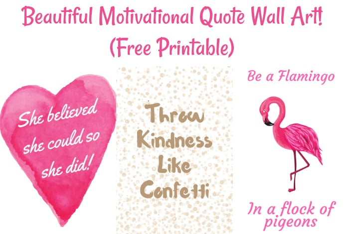 Beautiful Motivational Quote Wall Art {Free Printable}….