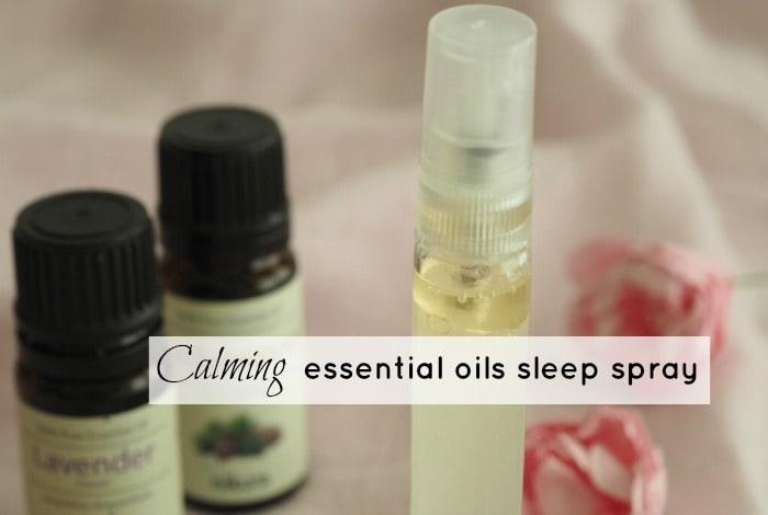 Calming essential oils sleep spray