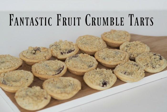 Homemade Autumn fruit crumble tarts….