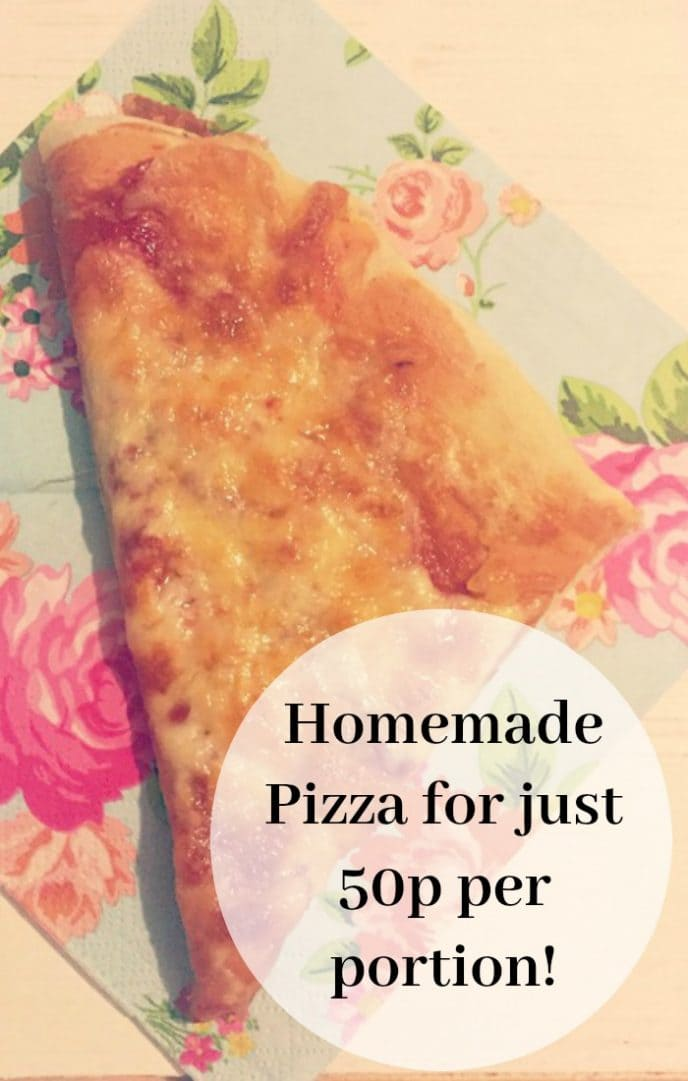 Feed your family on a budget with this homemade Pizza for just 50p per portion!