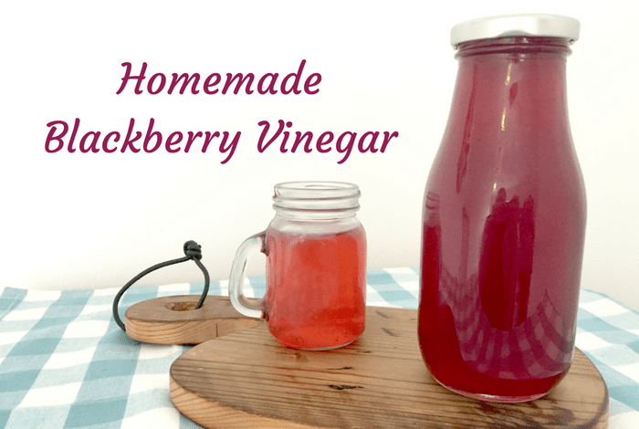 Homemade Blackberry Vinegar - a perfect salad dressing and apparetly it wards off a cold too.
