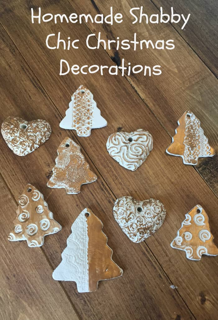 Homemade Shabby Chic Christmas Decorations