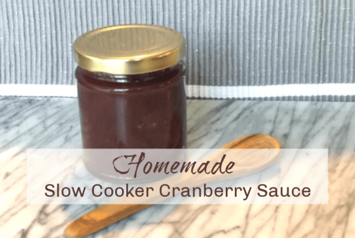 Homemade Slow Cooker Cranberry Sauce….