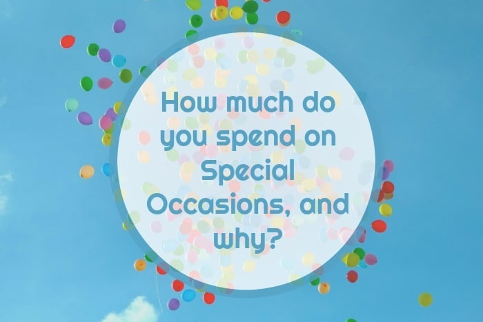 Special Occasion Spending….