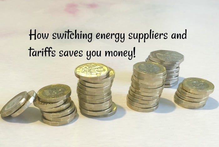 How switching energy suppliers and tariffs saves you money....