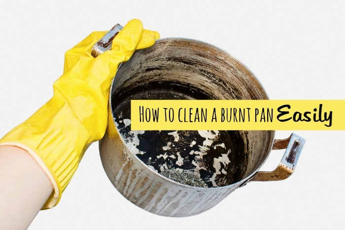 7 ways to clean a burnt pan easily the diary of a frugal family. Black Bedroom Furniture Sets. Home Design Ideas