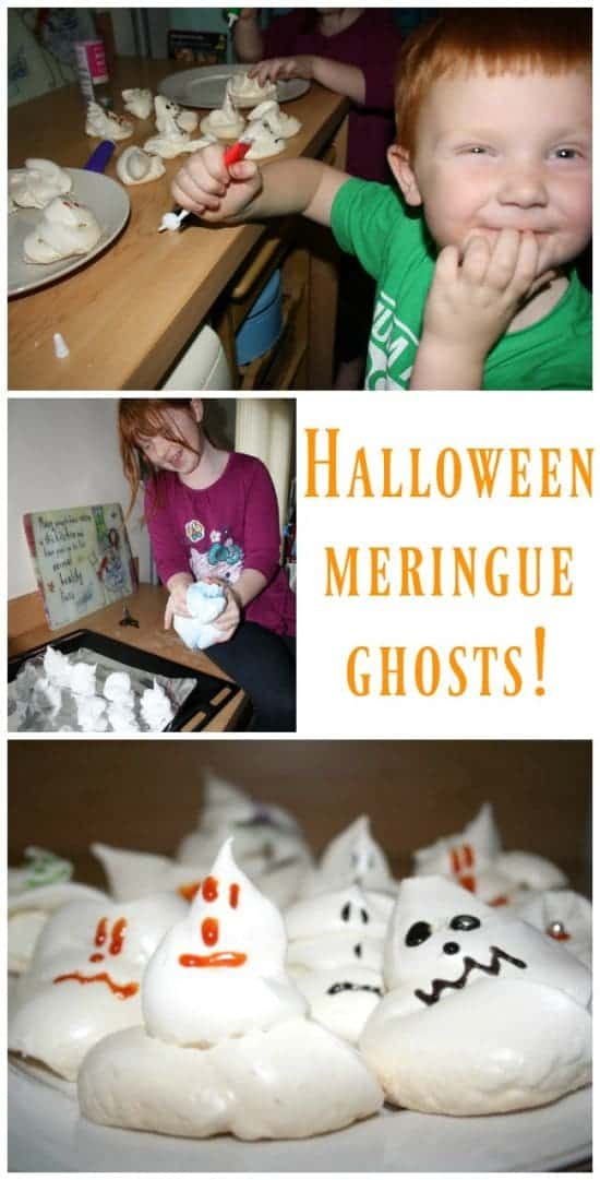 How to make your very own halloween meringue ghosts!