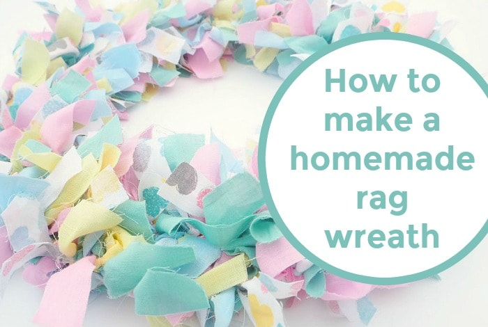 How to make your own homemade rag wreath….
